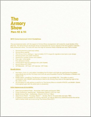 The Armory Show 2013 Commissioned Artist Guidelines, Liz Magic Laser, 2013, 10K gold engraving on paper, 10 x 8 in., edition of 20.
